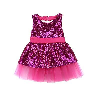 603b45774de34 CAT1-RHD Robe Bébé Fille Princesse Paillettes Noeud Papillon Anniversaire  Mariage Cérémonie pour Enfant 6