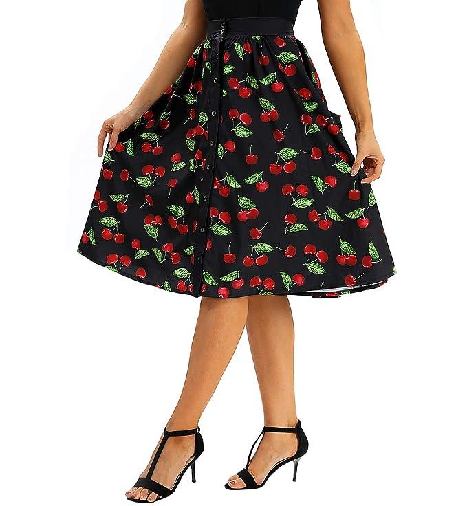 COUSIN CANAL - Falda - para Mujer Cereza S: Amazon.es: Ropa y ...