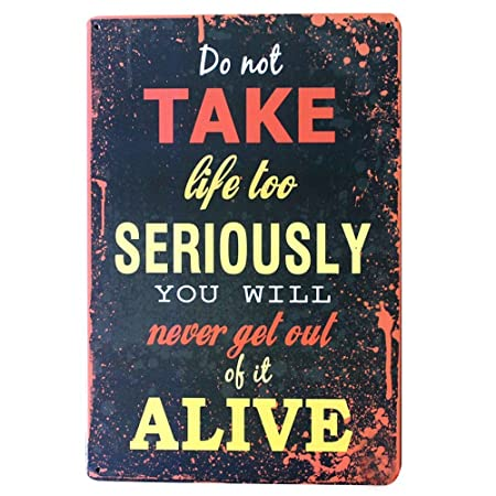 SALWON Life Alive You Will -Cartel De Chapa Advertencia ...