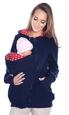 Mija - 3in1 Tragejacke, Umstandsjacke Fleece Tragepullover für Tragetuch  für Babytrage 4018A (S a9e77aeaad2