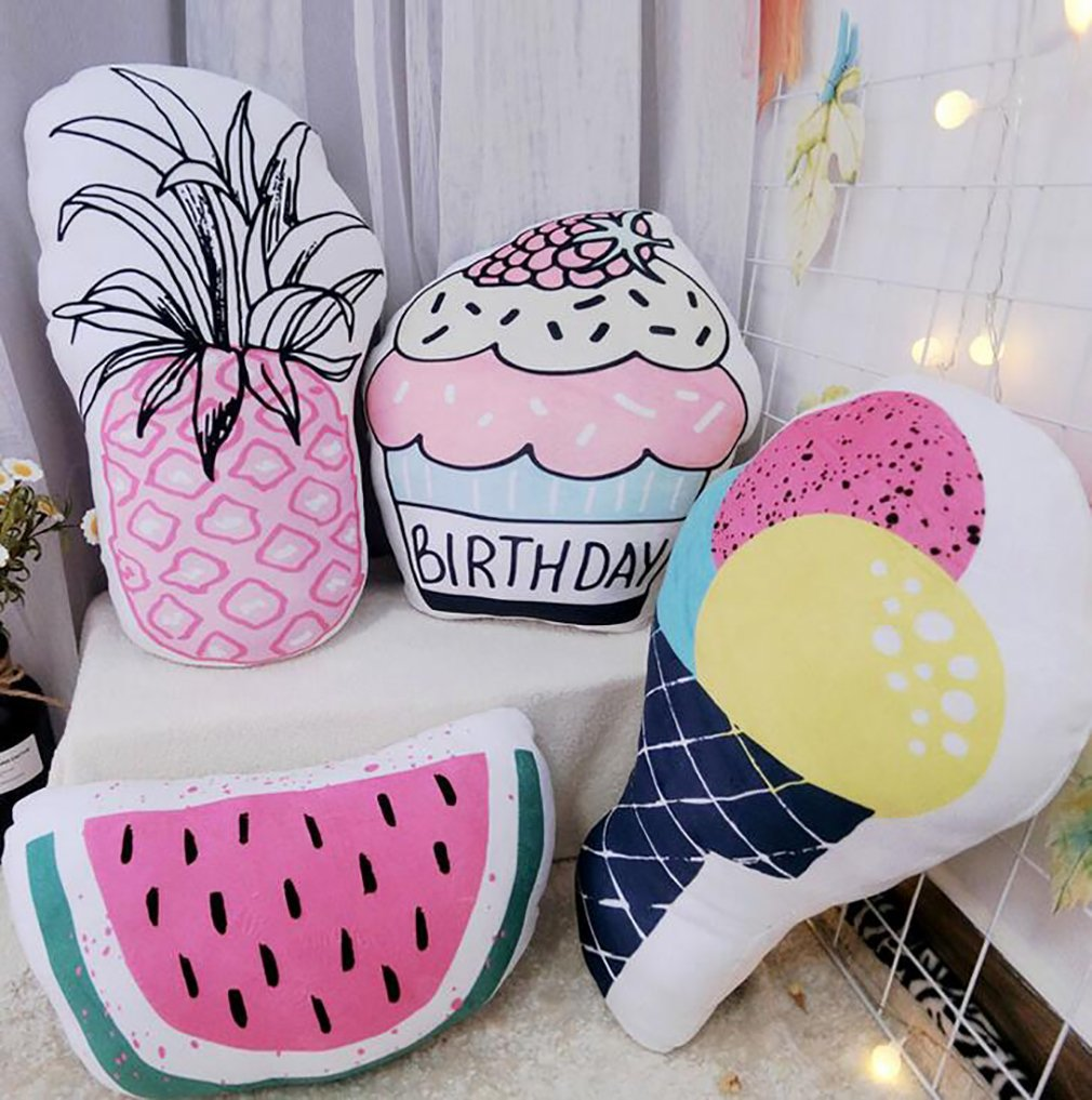 Cute Summer Back Cushion, Decorative Throw Pillow,Simulation Pillow Cushion,Plush Toy, Travel Pillow,Gifts for Kids (Watermelon 4030cm/16''12'') by PWXH (Image #2)