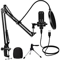 Haipusen USB Microphone Kit with Tripod and Arm