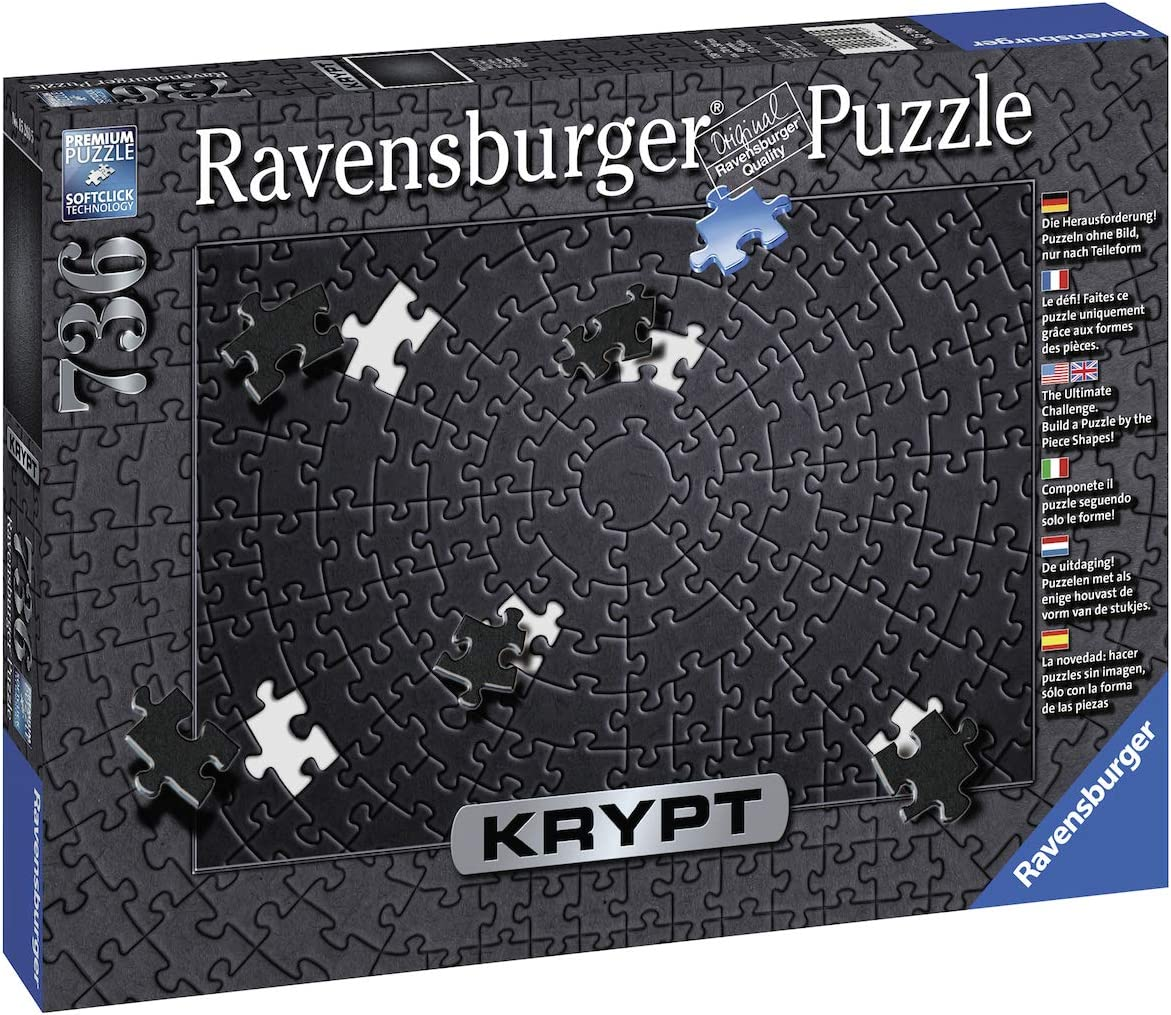 Amazon.com: Ravensburger Krypt Black 15260 736 Piece Puzzle for Adults,  Every Piece is Unique, Softclick Technology Means Pieces Fit Together  Perfectly,27