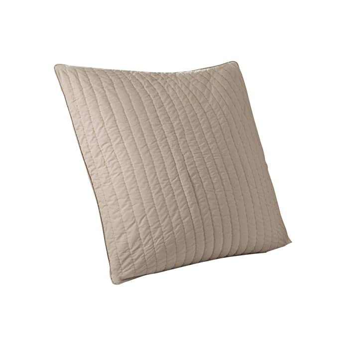 Euro Camila Quilted Sham Taupe