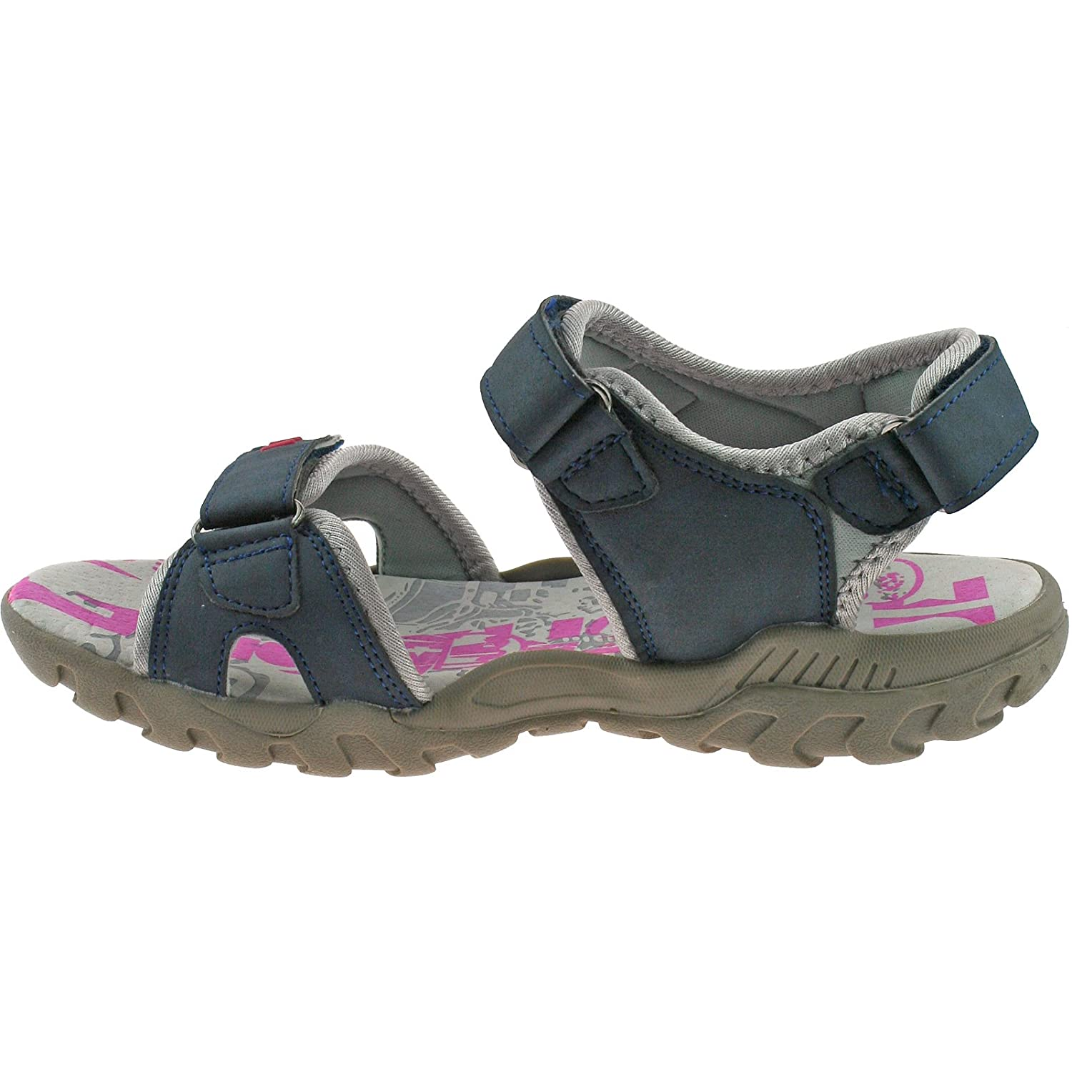 PDQ Womens Ladies Walking Sandals Navy Blue Adventure Touch Fastening   Amazon.co.uk  Shoes   Bags e37f20fb8a