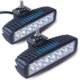 (スタンセン) Stansen LEDワークライト LEDライトバー オフロード 防水作業灯 CREE製18W 6連10-30VDC対応(12V/24V兼用)2個セット [並行輸入品]