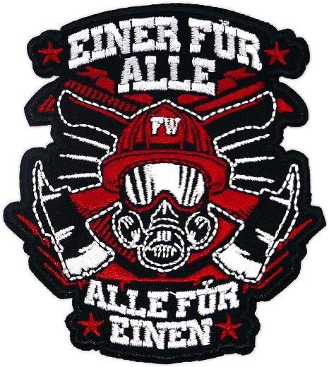 Aufnäher Aufbügler Patch Feuerwehr Einer Für Alle Alle Für Einen Auto