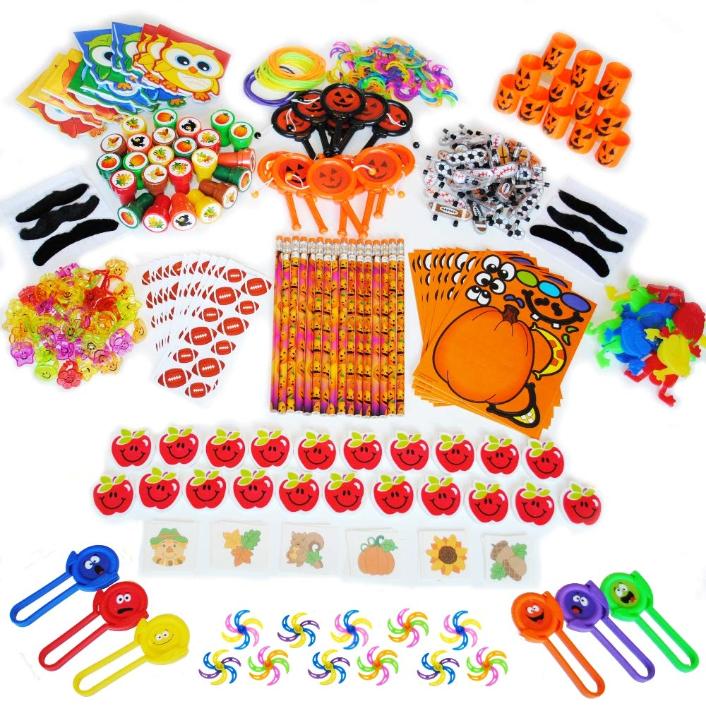 372-Piece Fall Festival Carnival Prizes Small Bulk Toy Assortment For School And Church Kids, Harvest Fest, Goody Bags, and Party Favors