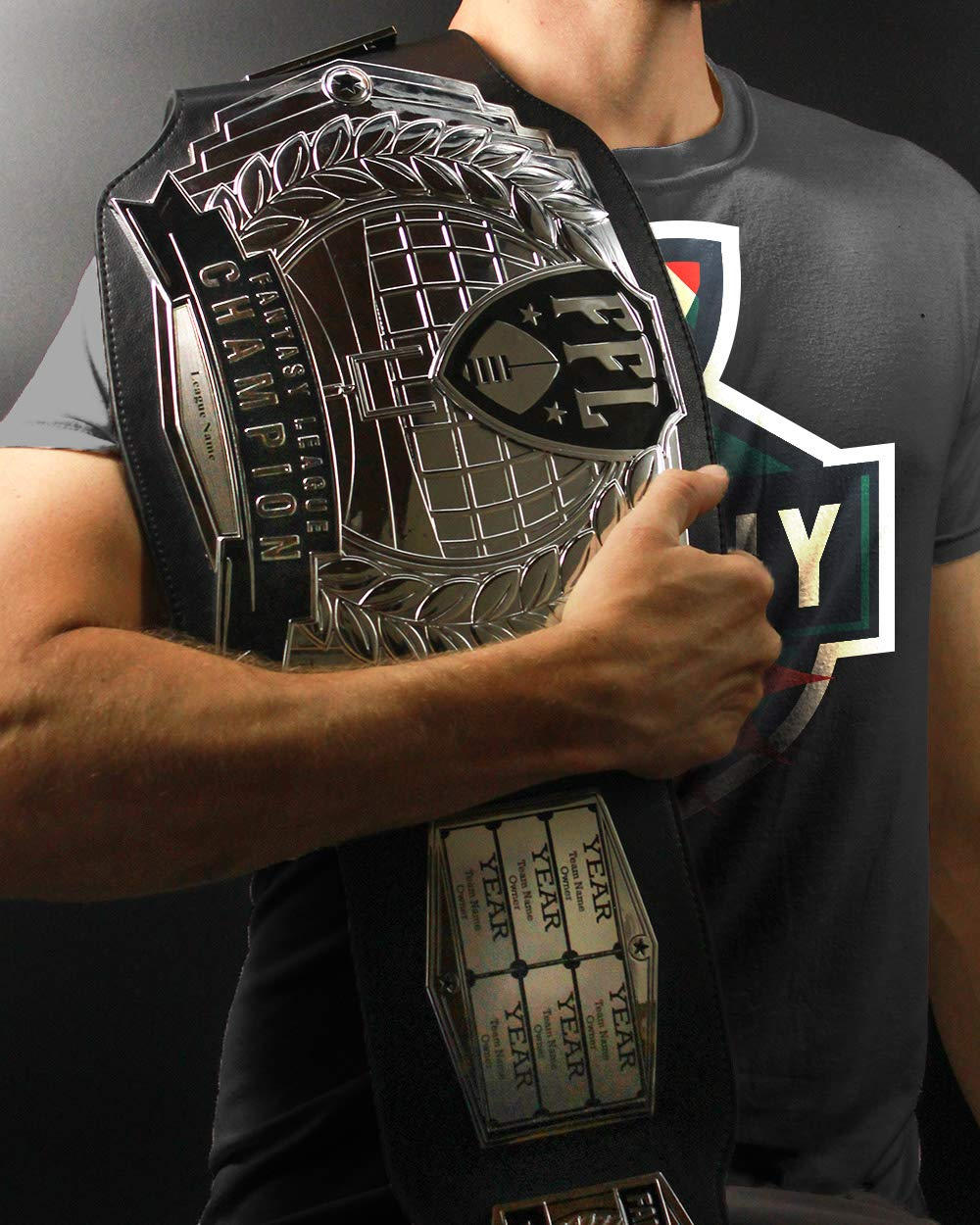 Customizable with Free Engraving for up to 12 Years of Past Winners! TrophySmack Fantasy Football Championship Belt