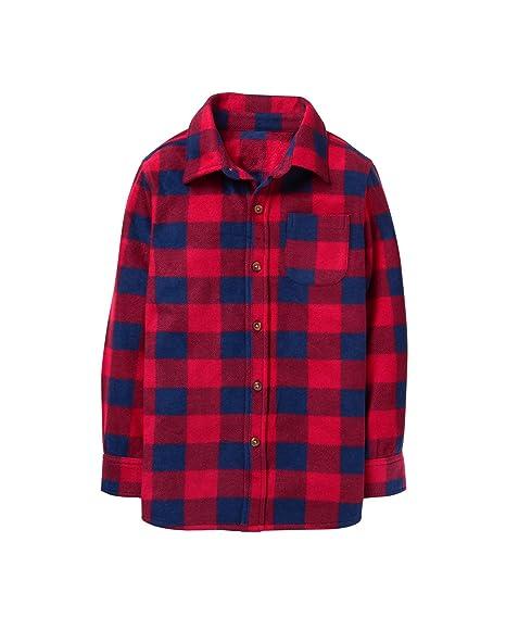 545e1e109dff Amazon.com  Crazy 8 Boys  Little Long Sleeve Flannel Shirt Jacket ...