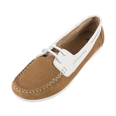Women's Deck Suede Leather Shoe (BBLFOO007047S16)