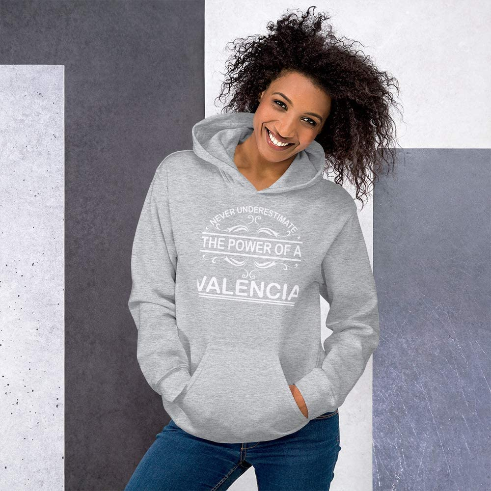Never Underestimate The Power of Valencia Hoodie Black