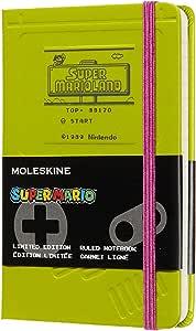 Moleskine Ltd. Edition Notebook, Super Mario, Game Boy/Green, Pocket, Ruled Hard Cover (3.5 X 5.5)