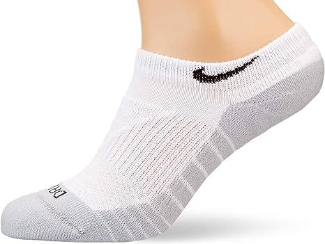 Choose size NIKE MENS 3PACK COTTON CUSHION LOW CUT Grey//Black-White SX4701 901