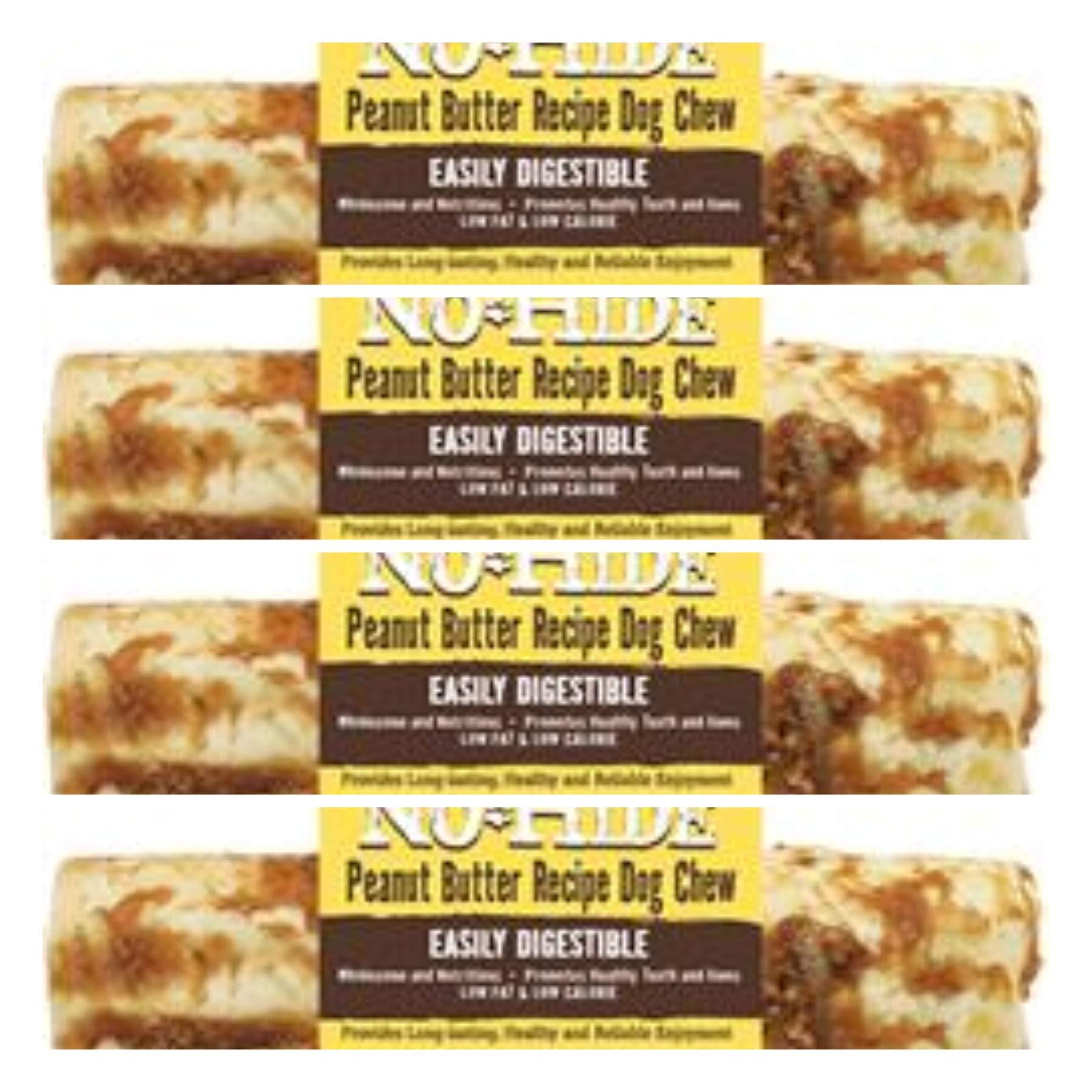 No Hide Earth Animal Peanut Butter Dog Chews. 4 Medium (6-7 inch ea) The Safe Alternative to Rawhide! by No Hide