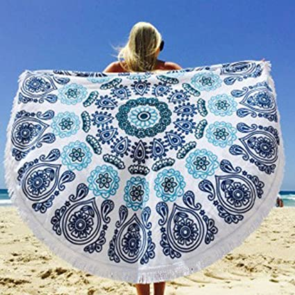 """leoso 59 """"algodón Mandala tapiz toalla de playa redonda con flecos toalla de Yoga"""