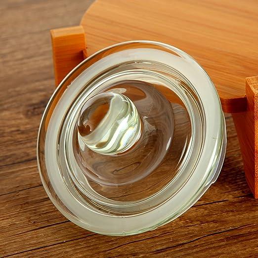 Tapa jarra de vidrio Latas de leche en polvo Botella de vidrio Hermético Comida cubierta con tapa Grande] [jar de almacenamiento] Tarro de pepinillos-A: ...