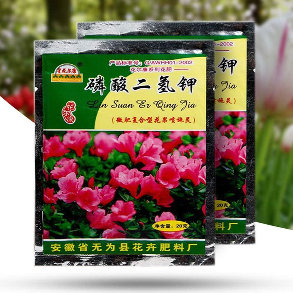 Maserfaliw Potassium Dihydrogen Phosphate Fertilizer 2 Bags 40g Flower Vegetable Planting Potassium Dihydrogen Phosphate Fertilizer
