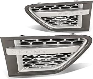 Side Fender Vent Mesh Grille (Gray Surface Silver Mesh) Replacement for Land Rover Range Rover Sport L322 Facelifted