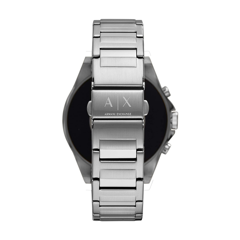 abaf21c3bdd Amazon.com  Armani Exchange Men s Stainless Steel Touchscreen Smartwatch