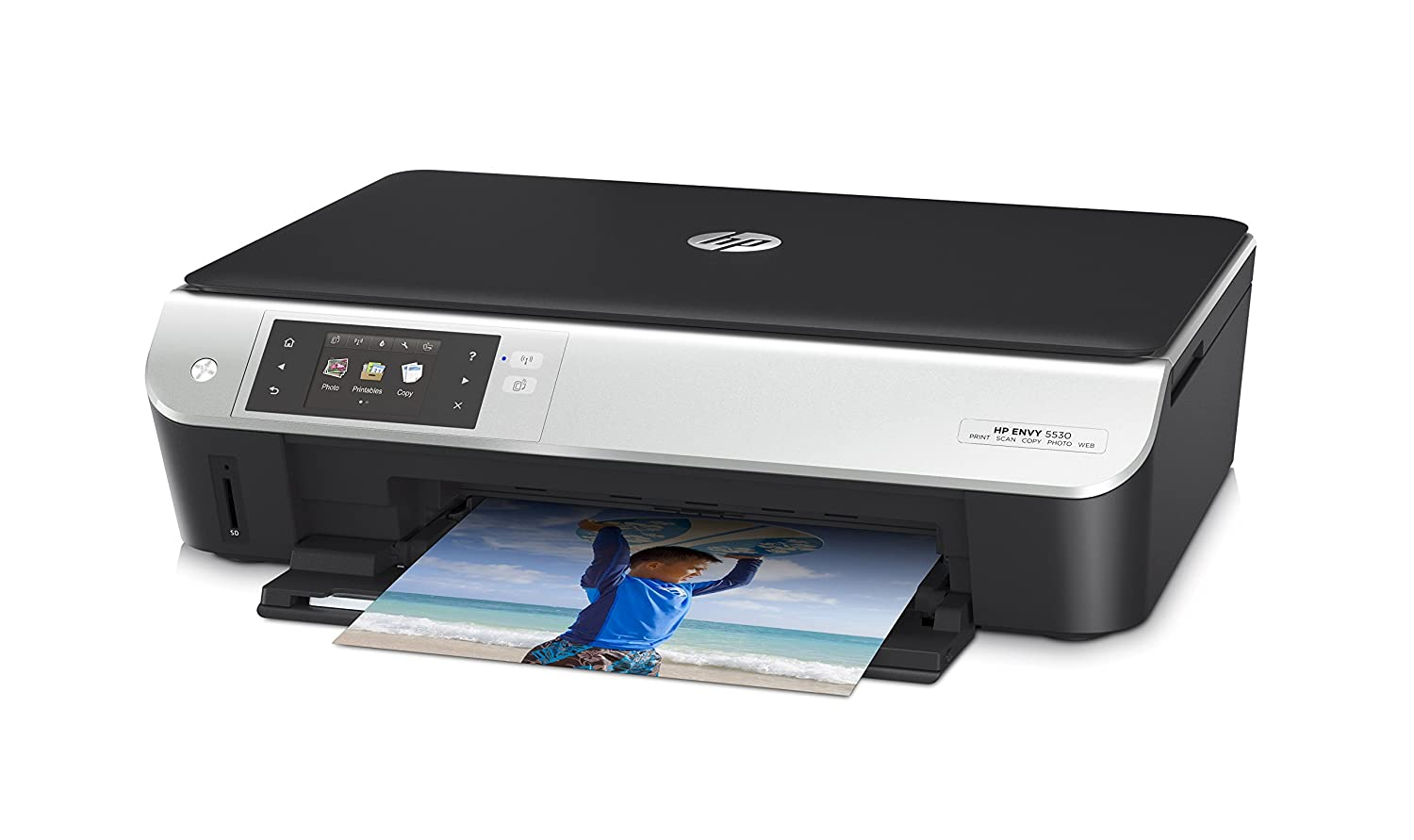 HP ENVY 5530 - Impresora multifunción de tinta color (impresión móvil, HP ePrint, HP WiFi Direct)