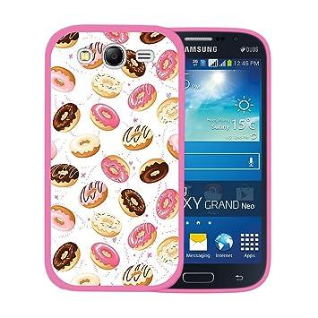 WoowCase Funda para Samsung Galaxy Grand Neo Plus, [Samsung Galaxy Grand Neo Plus ] Silicona Gel Flexible Donuts, Carcasa Case TPU Silicona - Rosa