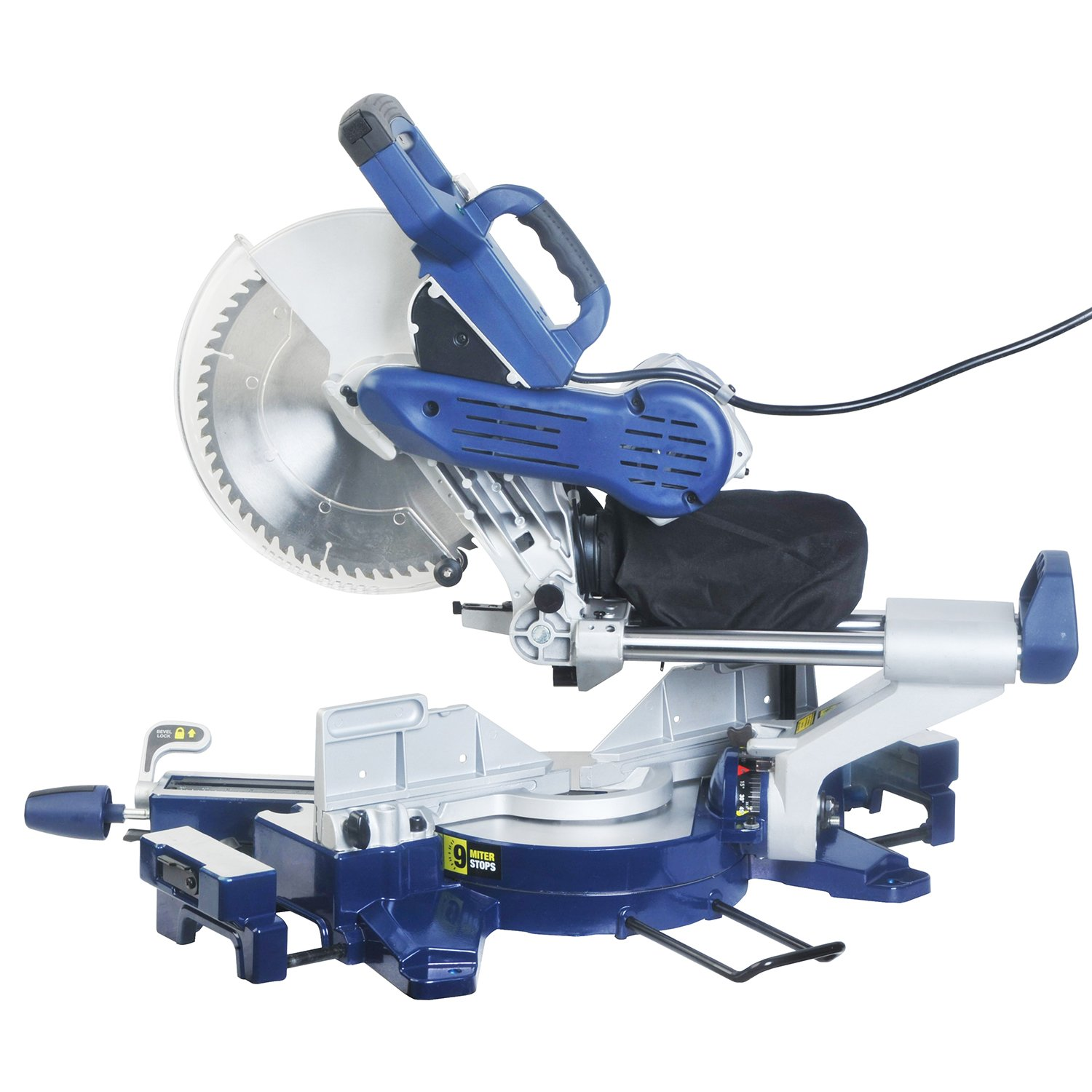 Wonlink 15 Amp 12'' Dual Bevel Sliding Compound Miter Saw with Laser and LED Work Light by Wonlink (Image #7)