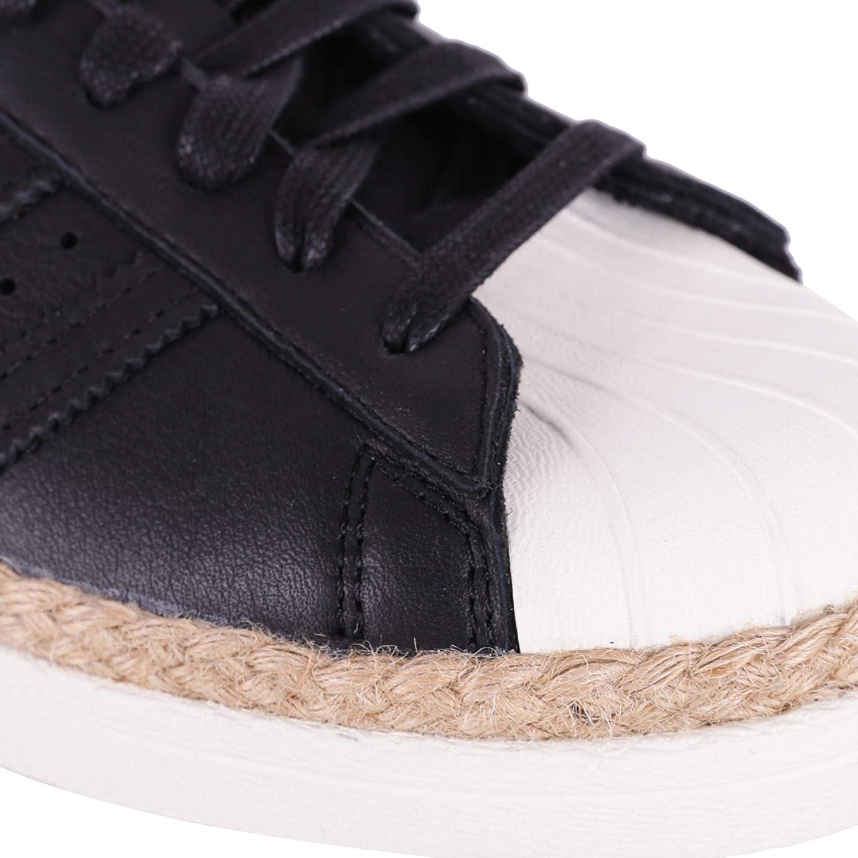 adidas Superstar 80s, Baskets Hautes Femme Noir