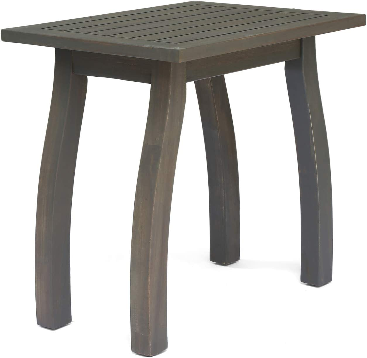 Christopher Knight Home 306099 Sadie Outdoor Acacia Wood Accent Table, Gray Finish