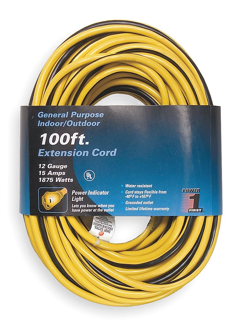 Power First 1FD57 Extension Cord, 100 Ft: Amazon.com: Industrial ...