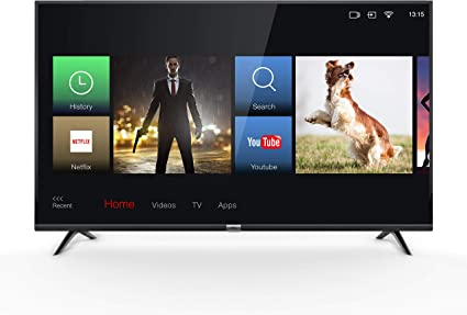TCL 43DP602, Televisor de 43 pulgadas, Smart TV con UHD 4K, HDR, Dolby Digital Plus, T-Cast y sintonizador Triple, Color Negro: Amazon.es: Electrónica