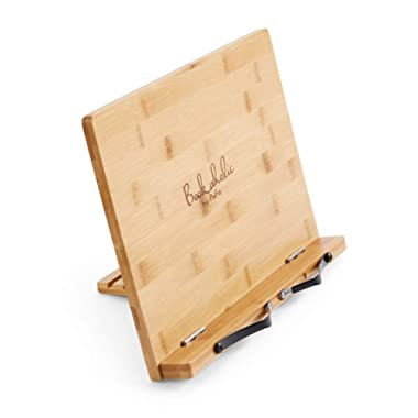 Cookbook Stand Cook Book Holder Organic Bamboo Book Stand Reading Rest Tablet Holders Phone Stands