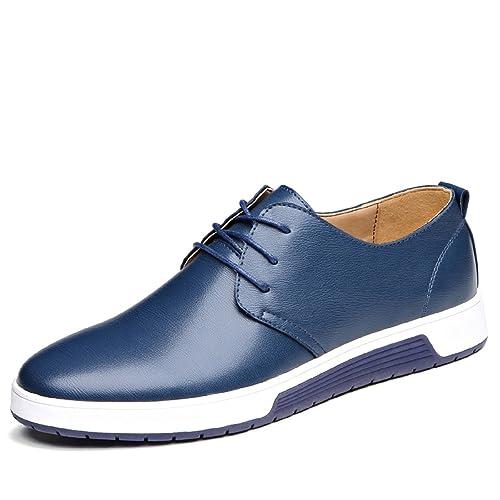 LILY999 Zapatos de Cordones para Hombre Cuero Brogue Vestir Derby Informal Negocios Boda Calzado: Amazon.es: Zapatos y complementos