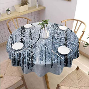 dining table decor ideas.htm amazon com diliteck winter banquet round tablecloth forest in  winter banquet round tablecloth