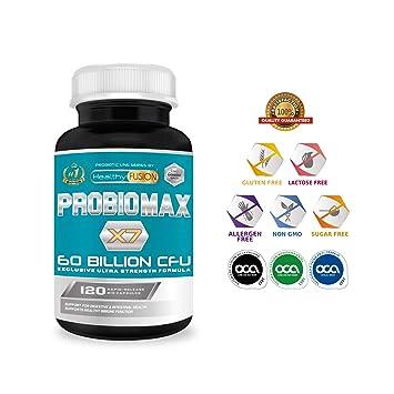 PROBIOMAX X7 – 60 BILLONES CFU – Formula Única y Exclusiva de Amplio Espectro – Probióticos Microencapsulados para Evitar su Degradación – 120 Caps. ...
