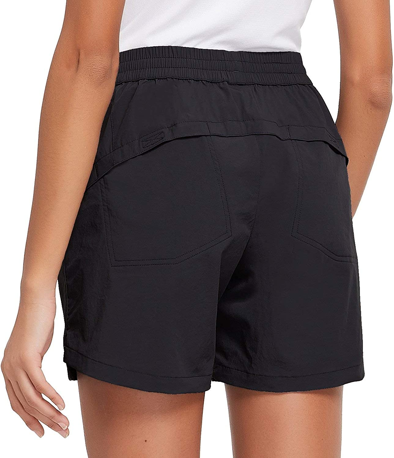 """BALEAF Women's 5"""" Athletic Shorts Quick Dry Lightweight for Hiking, Workout, Running with Zipper Pocket UPF 50+ : Clothing"""