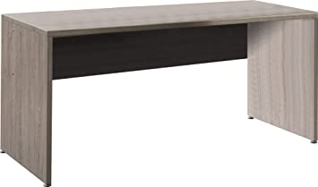 Bureau moderne et tendance 130cm coloris chêne foncé: amazon.fr