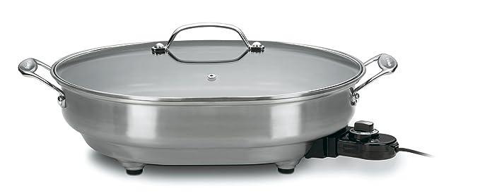 Cuisinart csk-150 1500-watt ovalada antiadherente eléctrica sartén ...