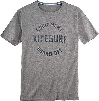 Kitaro Camiseta Estampada Tallas Grandes mélange Plateado, 2xl-8xl:5XL: Amazon.es: Ropa y accesorios