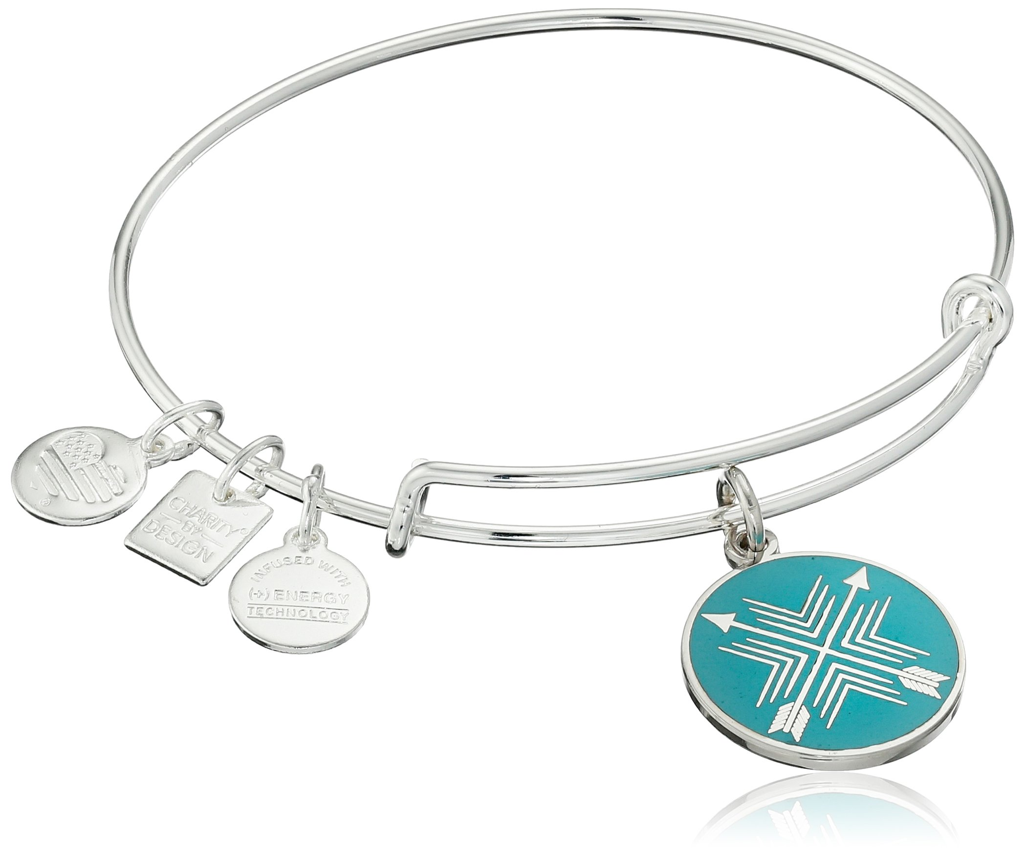 Alex and Ani Charity By Design Arrows of Friendship Expandable Shinny Silver Bangle Bracelet by Alex and Ani