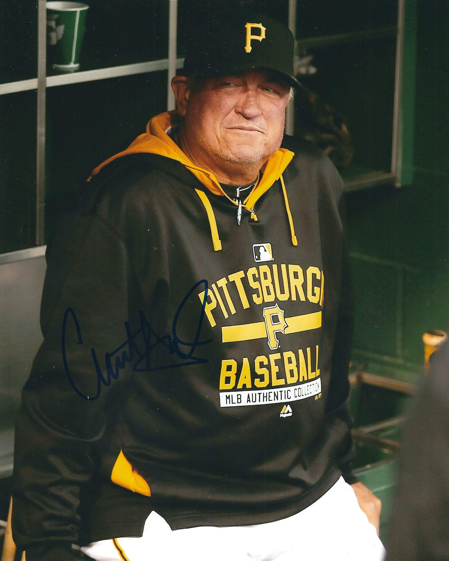Autographed Clint Hurdle 8x10 Pittsburgh Pirates Photo