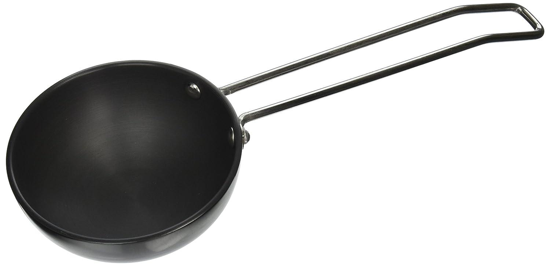 Vinod Hard Anodized 3.25mm Thick Tadka Spice Heating Pan, Large, Black