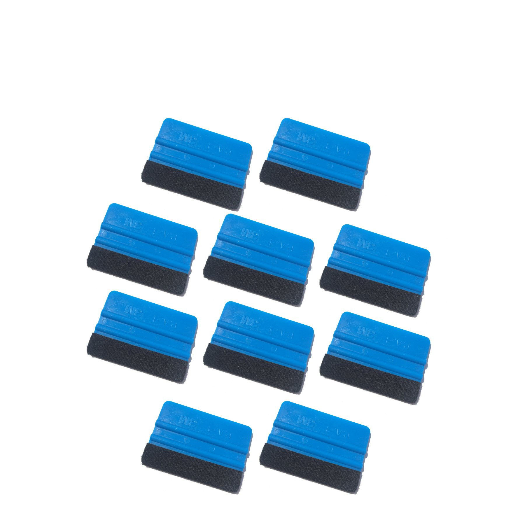 3M Felt squeegee 10 pack hand applicator tool P.A.-1 Blue