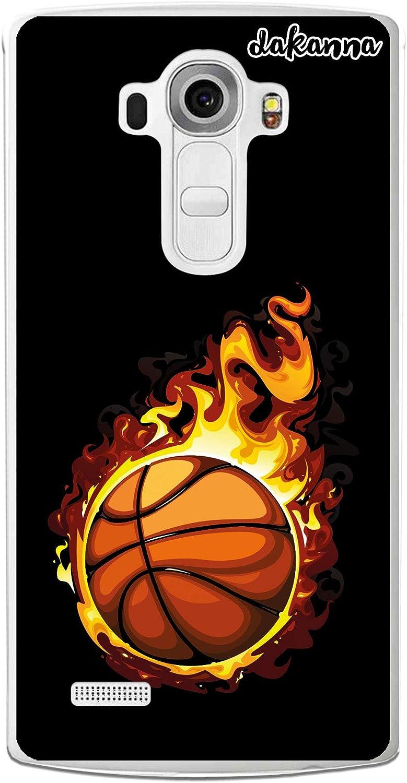 dakanna Funda para LG G4 | Balón de Baloncesto en Llamas | Carcasa ...