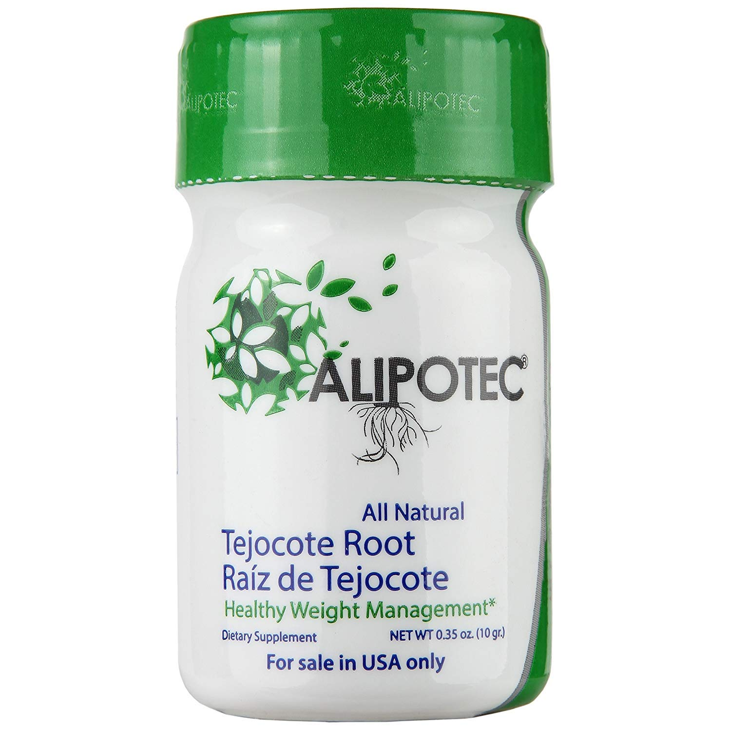 Original Alipotec Tejocote Root Treatment - 1 Bottle (3 Month Treatment) - Most Popular, All-Natural Weight Loss Supplement in Mexico - Now with Authenticity Sticker to Ensure 100% Authentic Product
