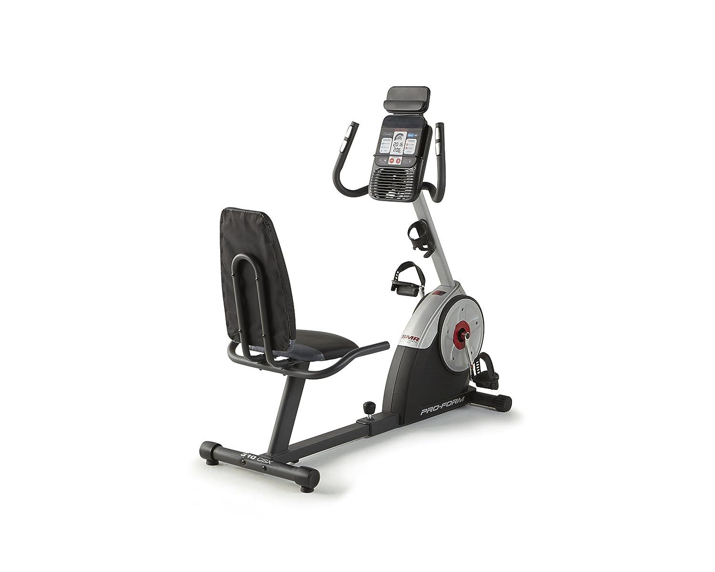ProForm 310 CSX Fahrrad semi-allongé Unisex Erwachsene, schwarz grau