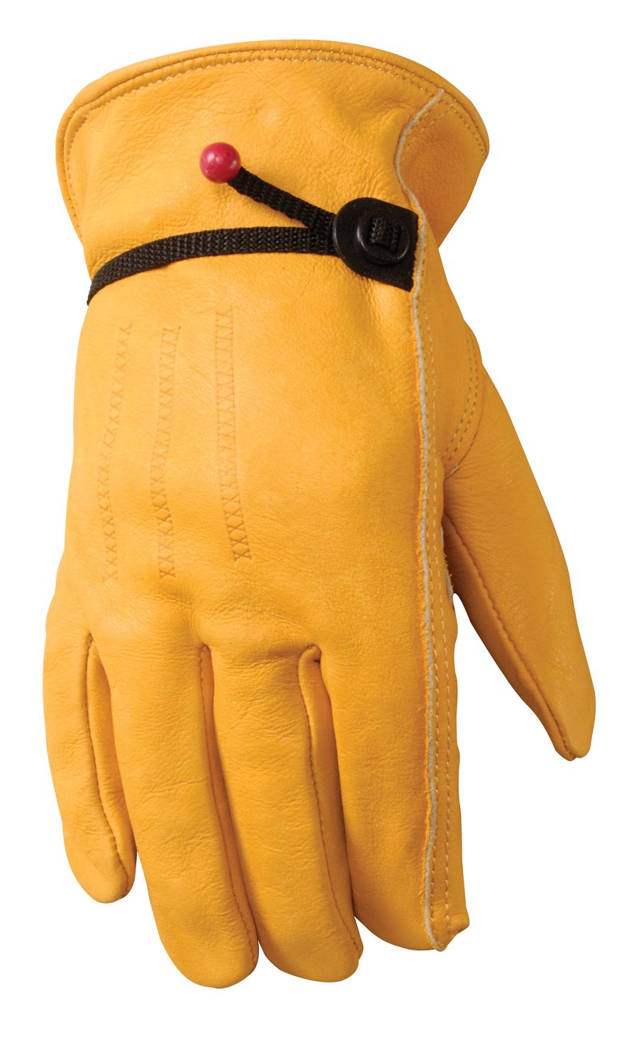 Leather Work Gloves with Wrist Closure, DIY, Yardwork, Construction, Motorcycle, Small (Wells Lamont 1132S)