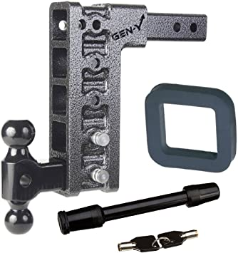 GEN-Y Hitch KIT-31 Receiver Drop Hitch Silencer Pad and Lock Bundle