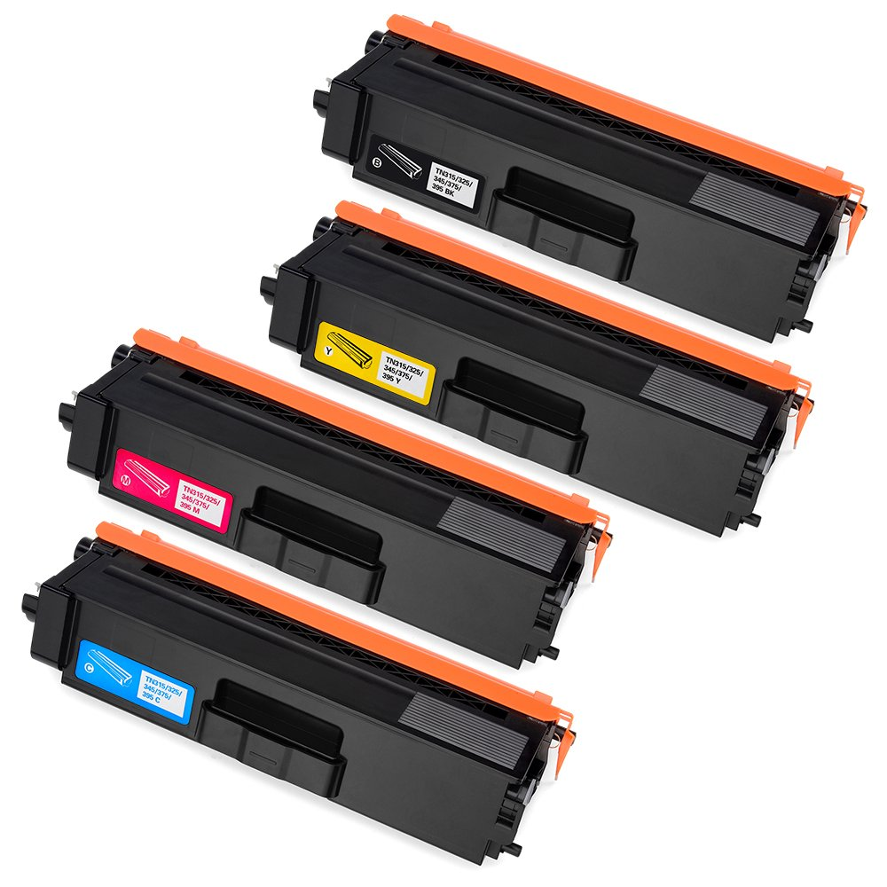 Office World Compatible Toner Cartridge Replacement for Brother TN315 TN-315 TN310 (1 Black, 1 Cyan, 1 Magenta, 1 Yellow), Compatible with Brother MFC-9970CDW MFC-9560CDW MFC-9460CDN