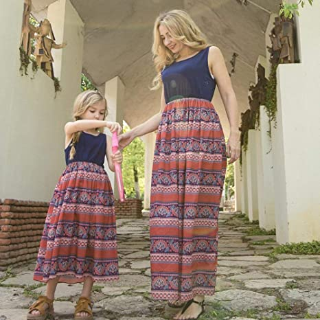 d06d8ad1244de Family Matching Outfits 2018 Summer European Mother and Daughter ...